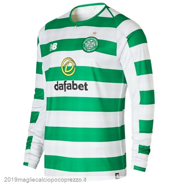 Acquisto Maglie Calcio New Balance Home Manica Lunga Celtic 18-19 Verde