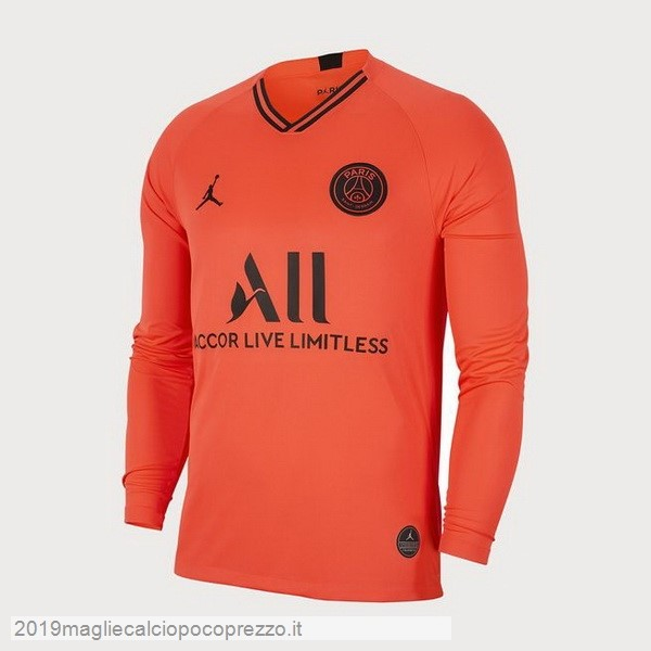 Acquisto Maglie Calcio JORDAN Away Manica lunga Paris Saint Germain 2019 2020 Oroange
