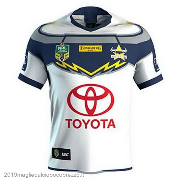 Acquisto Maglie Calcio ISC Away Rugby Maglia Cowboys 2018 Bianco
